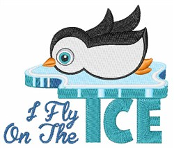 Fly On The Ice embroidery design
