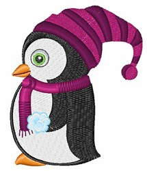 Peguin In Hat embroidery design