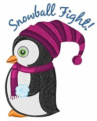 Snowball Fight embroidery design