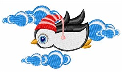 Flying Penguin embroidery design