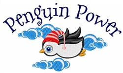Penguin Power embroidery design