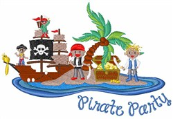 Pirate Party embroidery design