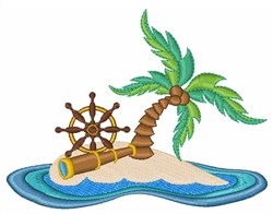 Island embroidery design