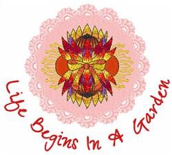 Garden Life embroidery design