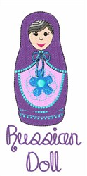 Russian Doll embroidery design