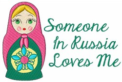 Russian Love Doll embroidery design