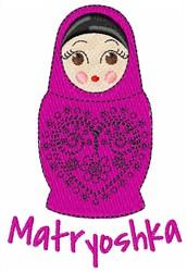 Matryoshka embroidery design