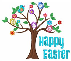 Easter Tree embroidery design