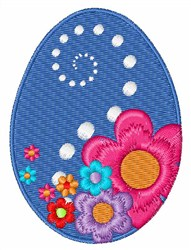 Floral Easter Egg embroidery design
