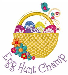 Egg Hunt Champ embroidery design
