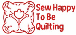 Sew Happy embroidery design