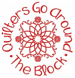 Quilters Go Around embroidery design