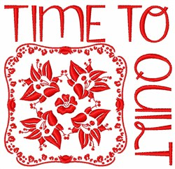 Time To Quilt embroidery design
