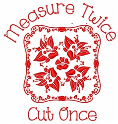 Sewing Saying embroidery design