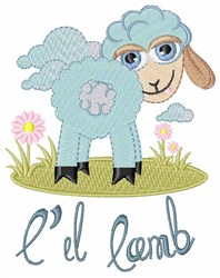 Lil Lamb embroidery design