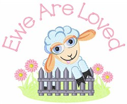 Ewe Are Loved embroidery design