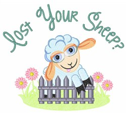 Lost Your Sheep? embroidery design