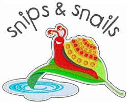 Snips And Snails embroidery design