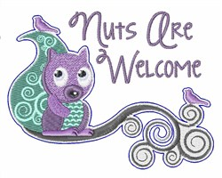 Nuts Are Welcome embroidery design