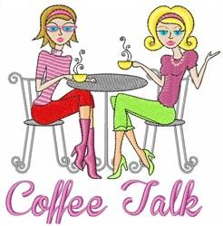 Coffee Talk embroidery design