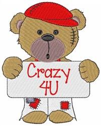 Crazy 4U embroidery design