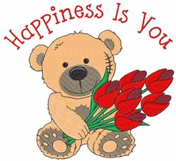 Happiness Is You embroidery design