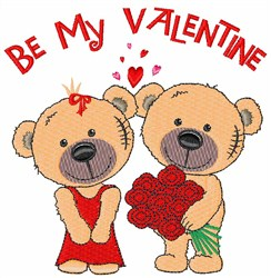 Be My Valentine embroidery design