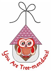 Tree-mendous Owl embroidery design