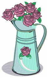Roses In Pot embroidery design