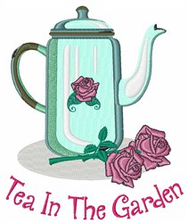 Tea In The Garden embroidery design