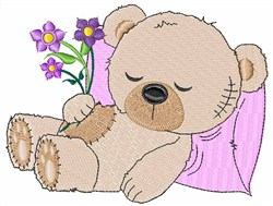 Sleeping Teddy Bear embroidery design