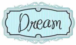 Dream Sign embroidery design
