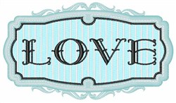 Love Sign embroidery design