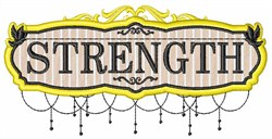 Strength Sign embroidery design
