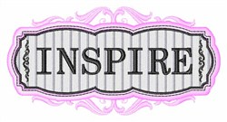 Inspire Sign embroidery design