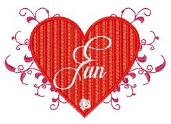 Fun Heart embroidery design