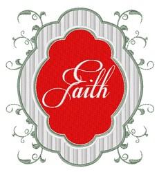 Faith Sign embroidery design