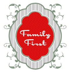 Family First embroidery design