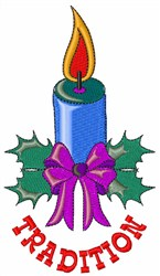 Tradition Candle embroidery design