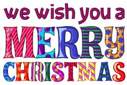 Wish You A Merry Christmas embroidery design