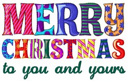 Merry Christmas To You embroidery design