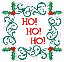 Ho! Ho! Ho! embroidery design