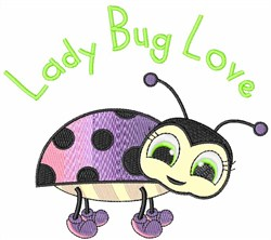 Lady Bug Love embroidery design