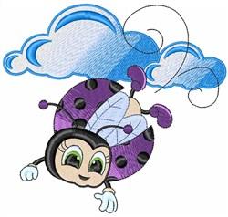 Flying Ladybug embroidery design