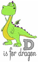 D Is For Dragon embroidery design