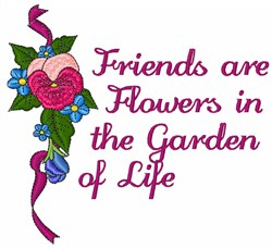 Garden In Life embroidery design