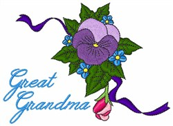Floral Great Grandma embroidery design