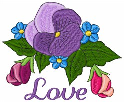 Floral Love embroidery design