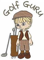 Golf Guru embroidery design