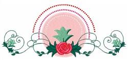 Swirl Rose embroidery design